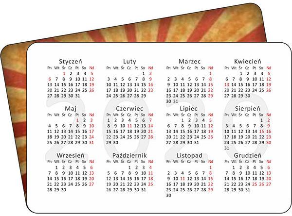 Kalendarzyki listkowe 85x55 - 1000 szt.